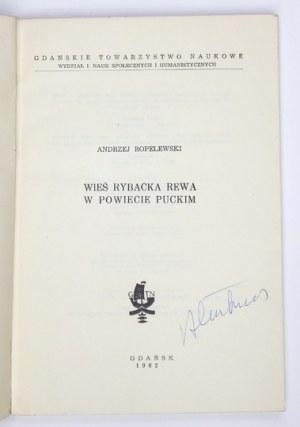 ROPELEWSKI Andrzej - Wieś rybacka Rewa w powiecie puckim. Gdańsk 1962. Gdańskie Towarzystwo Naukowe. 8, s. 178, [4]...