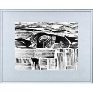 BARTOS SARO, Graphic Landscape 004, 2018, 26 x 34 cm