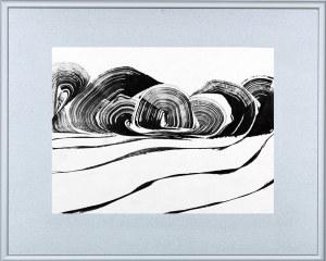 BARTOS SARO, Graphic Landscape 006, 2018, 26 x 34 cm