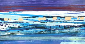 BARTOS SARO, Horizontal Landscape 13, 2021, 32 x 62 cm