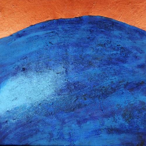 BARTOS SARO, Horizon Copper, 2021, 50 x 50 cm