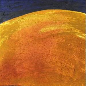 BARTOS SARO, Horizon Gold, 2021, 50x50 cm