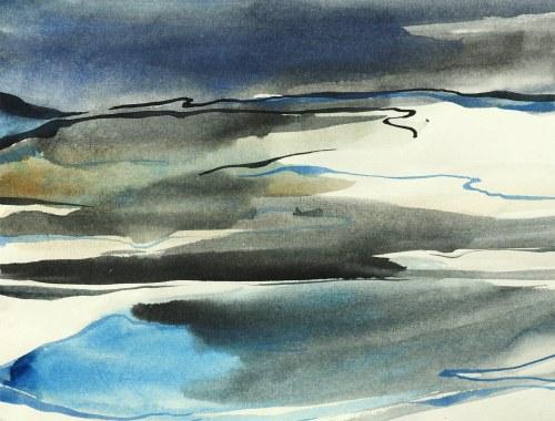 IVO ALVARONE, Linear Landscape 05 F, 2021, 32 x 42 cm