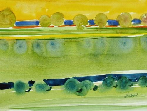 BARTOS SARO, Mirage Watercolor 11 F, 2021, 32 x 42 cm