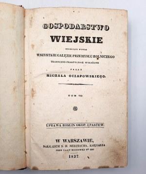 Oczapowski M. - Gospodarstwo wiejskie - Warszawa 1837r