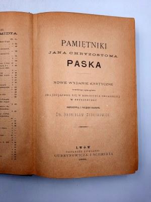 Gubrynowicz B. - Pamiętniki Jana Chryzostoma Paska - Lwów 1898