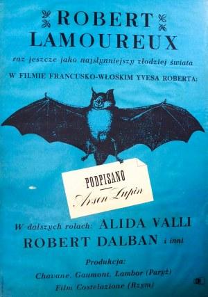 Mann Krzysztof - Podpisano Arsen Lupin - plakat filmowy - 1963r