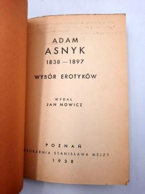Asnyk A. - Wybór erotyków - Poznań 1938