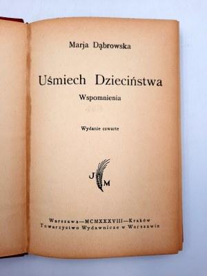 Dąbrowska M. - Uśmiech dzieciństwa - Warszawa 1938
