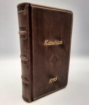 KATECHIZM czyli nauki chrześcijańskie - [RĘKOPIS w języku polskim ] 1793 rok