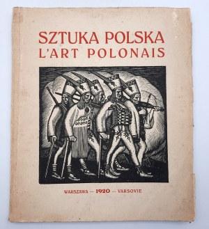 Sztuka Polska - Warszawa 1920, proj. okładki W. Skoczylas