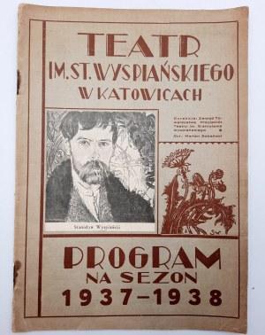 Program Teatru Im. St. Wyspiańskiego na sezon 1937 - 1938