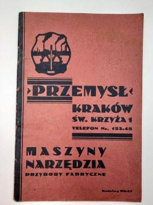 Katalog maszyn i narzędzi - Firma PRZEMYSŁ - Kraków [1931]