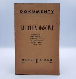 Dokumenty - Kultura Masowa - Instytut Literacki Paryż 1959