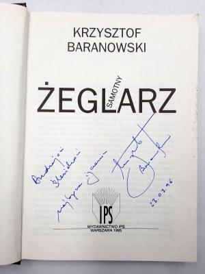 Baranowski Krzysztof - Samotny żeglarz - Autograf autora