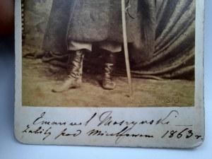 Rzewuski Walery - Hrabia Emanuel Moszyński - Postwaniec Styczniowy Zabity pod Miechowem 1863r