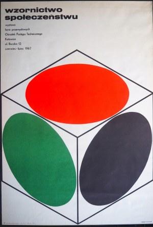 Hilscher H. - Wzornictwo Społeczeństwu - plakat - 1967r