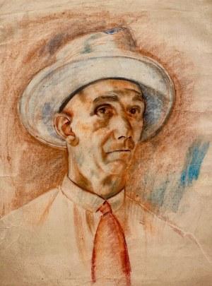 Hieronim Malina(1891-1948), ''Mężczyzna w kapeluszu''