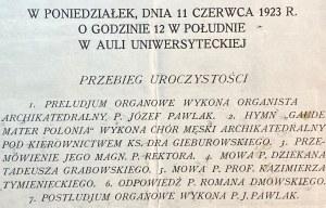 Zaproszenie na uroczystą promocję Romana Dmowskiego