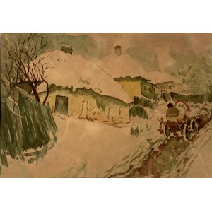 Nieustalony malarz, ''Zima we wsi''