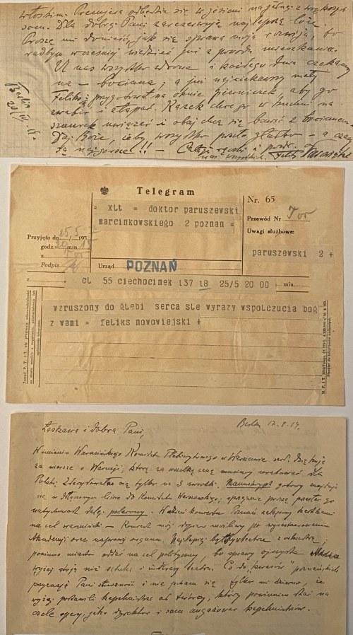 Feliks Nowowiejski(1877-1946)- 2 listy i 1 telegram