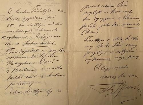 Feliks Nowowiejski(1877-1946)- zestaw 2 karty pocztowe i 1 list