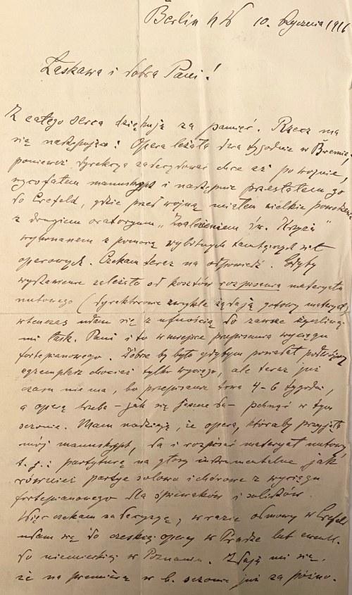 Zestaw - list Feliksa Nowowiejskiego, karta Jerzego Radziwiłła, fotografia Kazimierza Szmyta