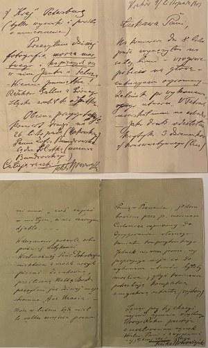 Feliks Nowowiejski(1877-1946)- 2 listy