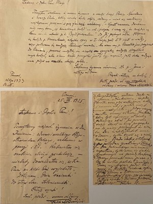 Feliks Nowowiejski(1877-1946)- 2 listy i 1 karta pocztowa