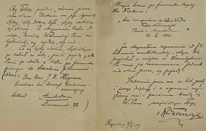 Rudolf Nowowiejski- 2 listy