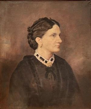 Kazimierz Szmyt ,Portret żony Kaspra Kramarkiewicza-Ludwiki Przyłuskiej
