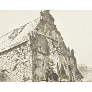 Leon WYCZÓŁKOWSKI (1852-1936), Spichlerz Ulanowskich w Kazimierzu nad Wisłą (ok. 1920)