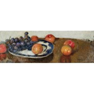 Alfons KARPIŃSKI (1875-1961), Martwa natura z czerwonymi winogronami
