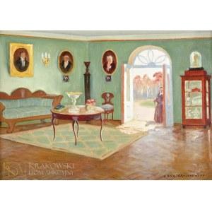 Bronisława RYCHTER-JANOWSKA (1868-1953), Salon w dworku