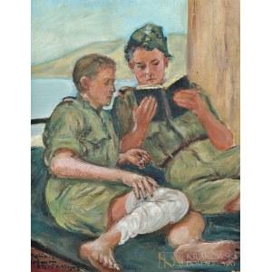 Wlastimil HOFMAN (1881-1970), Czytanie Ewangelii (1943)