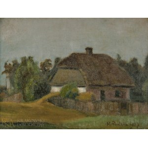 Hanna RUDZKA-CYBISOWA (1897-1988), Pejzaż z chatą (1917)