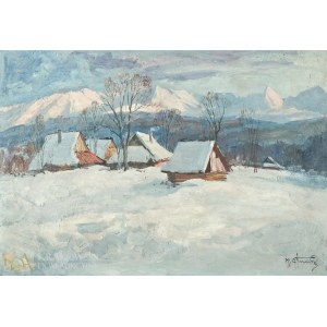 Michał STAŃKO (1901-1969), Zimowy pejzaż tatrzański