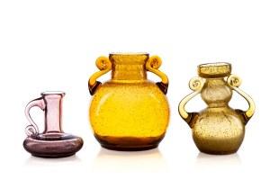 Zestaw 3 form szklanych - Spółdzielnia Przemysłu Ludowego i Artystycznego