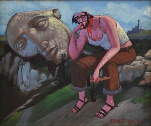 Jacek Pałucha (ur. 1966), Artysta megalityczny, 2021