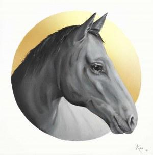 Barbara Kieca, Koń, z cyklu: Gold Made Animal, 2021