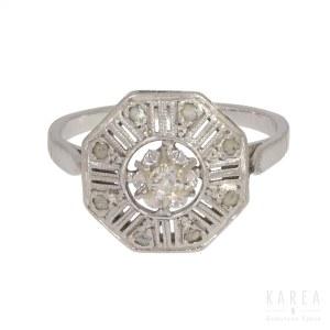 A diamond ring, France, 1920s-30s