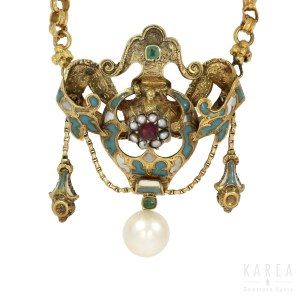 A Victorian/Biedermeier necklace, late 19th century