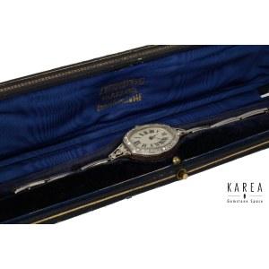 An Art Déco diamond set lady's cocktail wristwatch, Switzerland, early 20th century