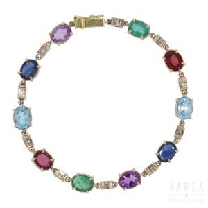 A multi gem bracelet, Italy, 20th century