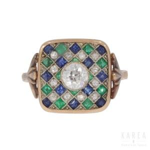 An Art Déco ring, 1930s-40s