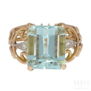 An aquamarine ring, 2nd half of 20th century