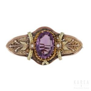A Victorian/Biedermeier brooch