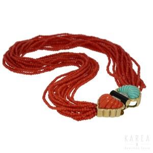 An Art Déco coral necklace, 1960s