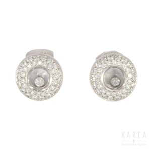A pair of diamond paved ear clips, by Chopard, 21st century