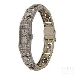 Zegarek biżuteryjny art déco, Eszeha, Niemcy, pocz. XX w., art déco